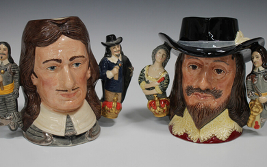 Two Royal Doulton limited edition character jugs, comprising Oliver Cromwell, D6968, No. 325 of 2500
