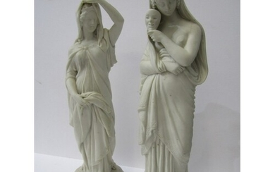 """VICTORIAN PARIAN, two figures """"Esther & Lady with Face Mask""""..."""