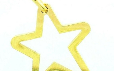 Vintage 18k Yellow Gold French O.J. Perrin Funky Star