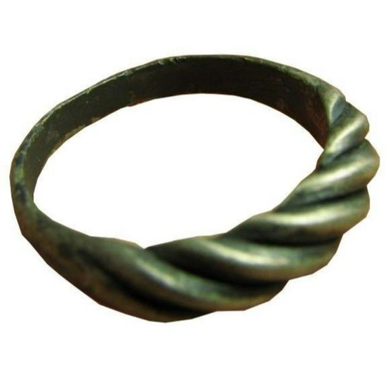 "Vintage Sterling Silver Twisted ""Viking-Style"" Men's"