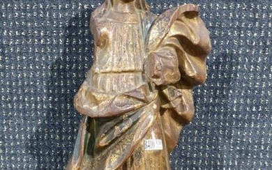 """""""Virgin"""" in carved and polychromed wood."""