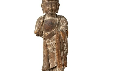 WOODED FIGURE OF AMITABHA MING DYNASTY, 15TH-16TH