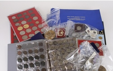 World Coins & Medals etc, a large collection in two Lindner ...