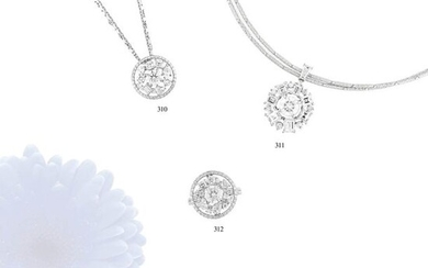 """1.07 CT DIAMOND WHITE GOLD NECKLACE""L39.0 cm, φ17.0 mm, 13.7 g, color : E, clarity : VS1, cut : EXCELLENT"