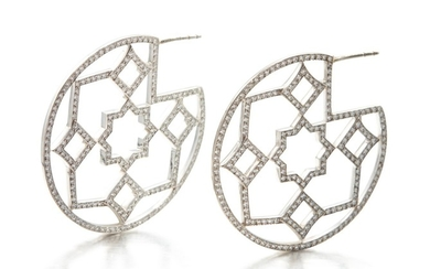 PAIR OF 'MARRAKESH' DIAMOND EARRINGS, PALOMA PICASSO FOR TIFFANY & CO.