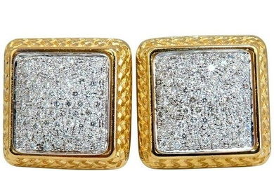 1.20 Carat Natural Diamonds Cluster Bead Clip Earrings