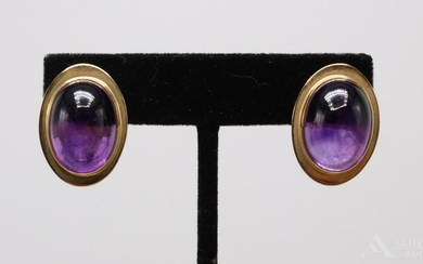 14KY Gold Amethyst Earrings