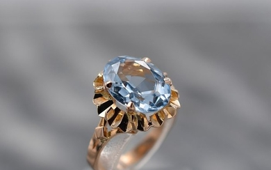 18 kt. Yellow gold - Ring - 5.80 ct Topaz