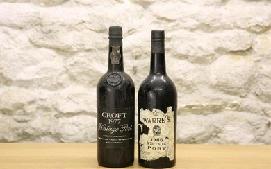 2 BOTTLES MIXED LOT OF FINE PORTS comprising : 1 bottle