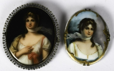 (2) PORTRAIT MINIATURES of QUEEN LOUISA OF PRUSSIA
