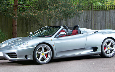 2001 Ferrari 360 Spider, Coachwork by Pininfarina Registration no. Y707 TGJ Chassis no. ZFFYT53C000123797