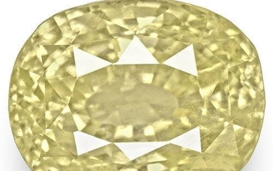 6.05-Carat GIA-Certified Unheated Light Yellow Sapphire