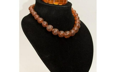68 gram 100% natural Baltic amber set of necklace and