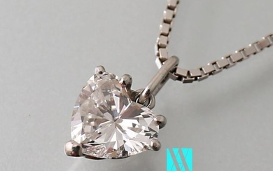 750 thousandths white gold chain with a Venetian...