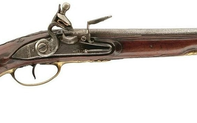 A 25-BORE FRENCH FLINTLOCK HOLSTER PISTOL BY MONNIER