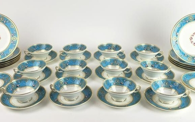A 38 Pc. Minton Jewelled Porcelain Dish Set