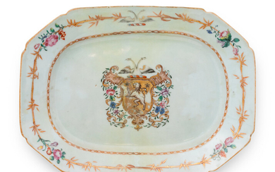 A Chinese Export Armorial Porcelain Small Platter