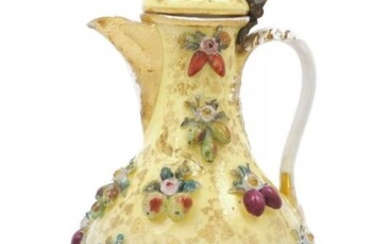 A Continental porcelain ewer, 19th century, with...