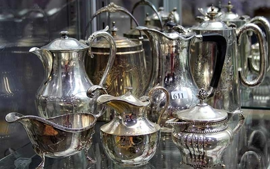 A GROUP OF SILVER PLATED TABLE ITEMS