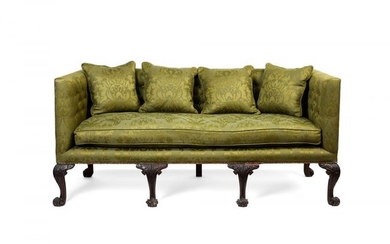 A George II style carved mahogany sofa, late 19th century