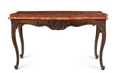 A Louis XV Provincial Style Walnut Center Table