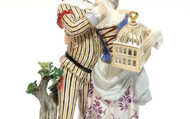 A Meissen Porcelain Figure Group, 20th century, from the Comedia...