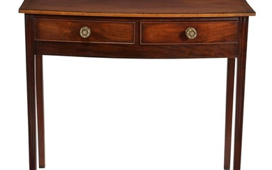 A Regency mahogany bowfront side table
