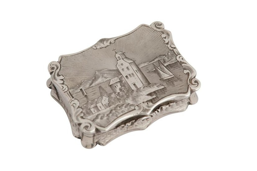 A Victorian sterling silver 'castle top'