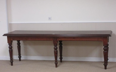 A Victorian style Serving Table with mahogany top mounted...
