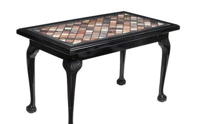 A black lacquered centre table in George II style
