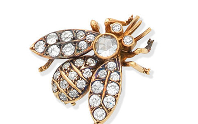 A diamond bee brooch