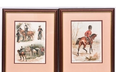 A pair of coloured prints, after originals by Harry Payne, ...