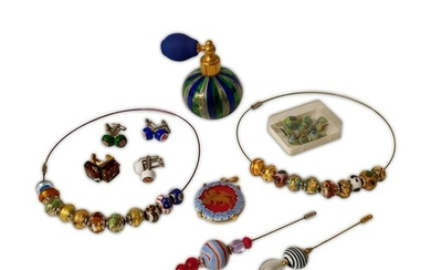 A small collection of modern Ventian glass jewellery by Vecc...