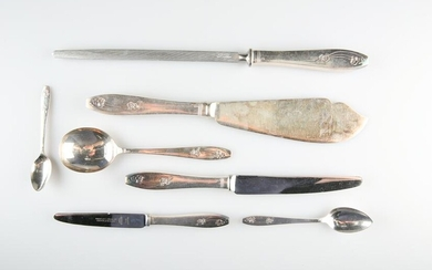 AN EXTENSIVE SILVER-PLATED TABLE SERVICE, by Priestley