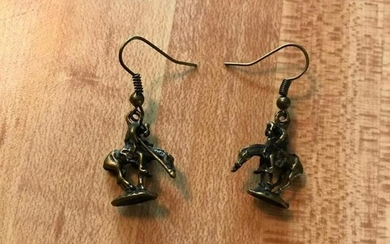 After Fraser, End of The Trail Bronze Earrings