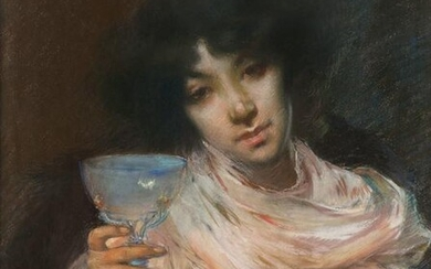 Albert Besnard (French, 1849-1934) Woman with a Goblet