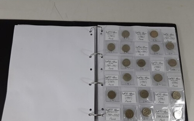 Album of coins including collectable £1, £2 and 50pence coin...