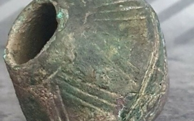 Ancient Greek Bronze Greek Large very rare Decorated bronze Mace head - 67×67×67 mm - (1)