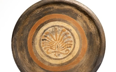 Ancient Greek Terracotta Plate with Palmette