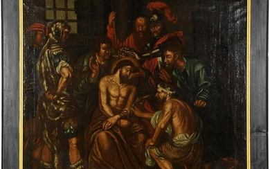 Anonymous, the mockery of Christ, canvas period