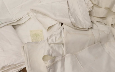 Assorted White Linen, mainly bed linen including bundles of new...