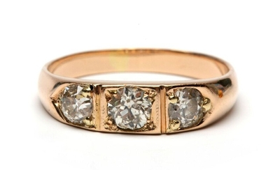 Below the legal amount of rose gold ring,...