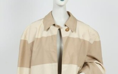 Bill Blass Two-Tone Stripe Trench Coat