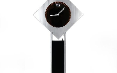 Brushed Aluminum Infinity Clock with Stand