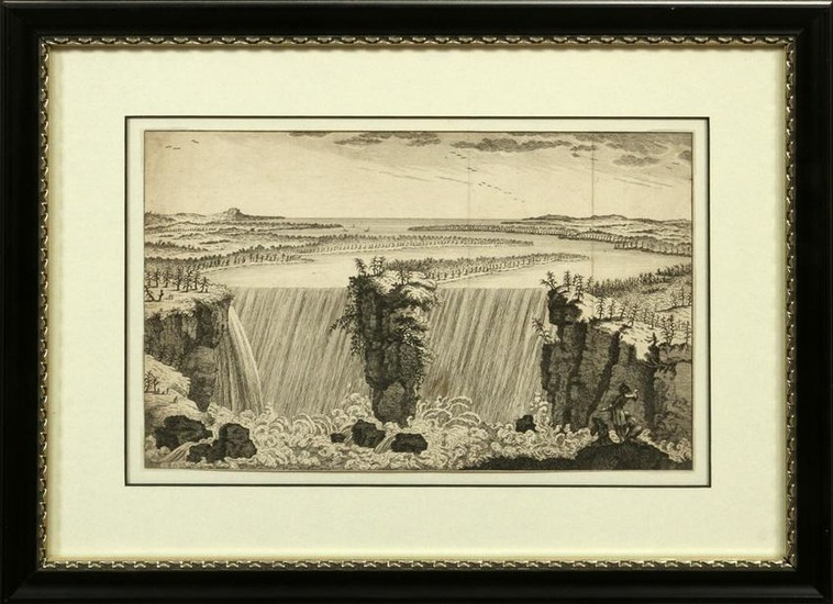 COPY OF FATHER LOUIS HENNEPIN ETCHING