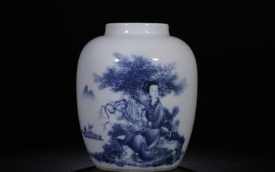 Chinese Blue and White Porcelain Vase/Jar,Mark