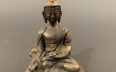 Chinese Gilt Bronze Figure of Amitabita