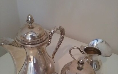Coffee service (3) - .800 silver - Italy - Mid 20th century