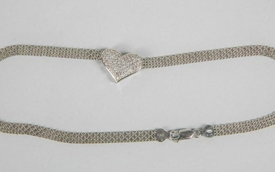 Collectible Art Deco Large Sterling Silver Necklace
