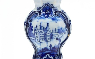Delft Cobalt Decorated Vase